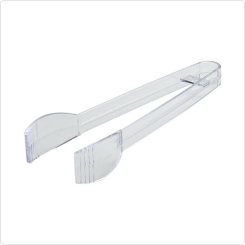 Clear 7 Inch Plastic Tong/Case of 48