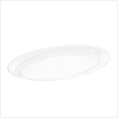 Clear 14 x 21 Plastic Oval Tray/Case of 20