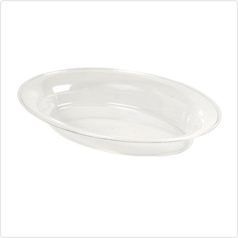 Clear 14 x 21 250 oz Plastic Oval Bowls/Case of 20