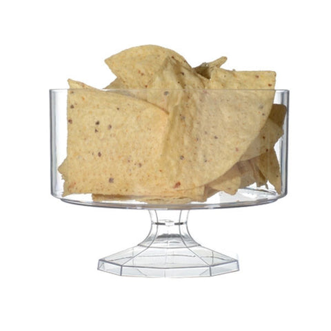 6 Inch Clear Plastic Trifle Bowls/Case of 6