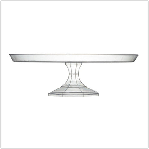 Clear 13 3/4 Inch Cake Stand/Case of 12