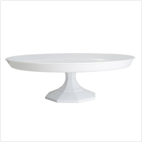 White 9 3/4 Inch Cake Stand/Case of 12