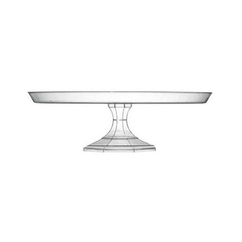 Clear 11 3/4 Inch Cake Stand/Case of 12