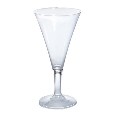 2 oz Tiny 1 Piece Plastic Champagne Flutes/Case of 96