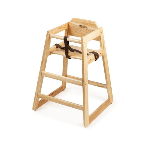 High Chair Assembled 2 per box Natural Hardwood/Case of 2