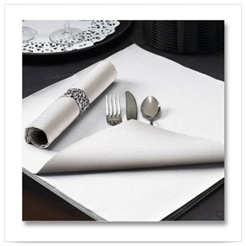 15 1/2 x 15 1/2 FashnPoint Flat Pack White Napkin Ultra Ply Color In Depth/Case of 750