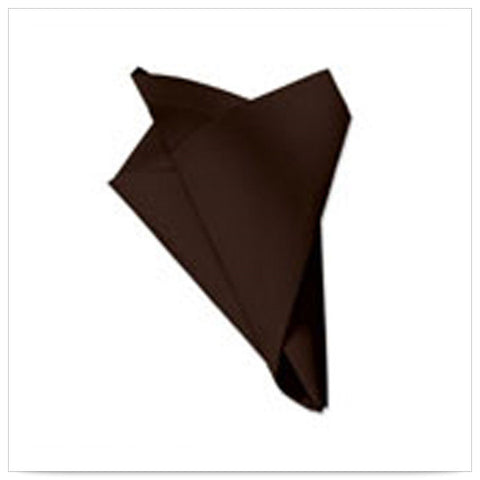 15 1/2 x 15 1/2 FashnPoint Flat Pack Chocolate Napkin Ultra Ply Color In Depth/Case of 750