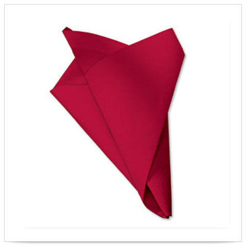 15 1/2 x 15 1/2 FashnPoint Flat Pack Red Napkin Ultra Ply Color In Depth/Case of 750