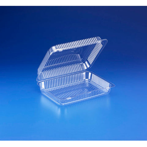 10 x 8 x 2 Danish Loaf Cakes Clear Hinged Containers/Case of 300