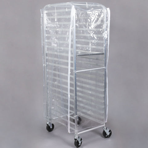 Pan Rack Cover, 20 Tier, Clear/Case of 4