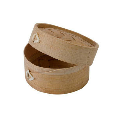 DIM SUM 3 9/10 x 2 1/10 Bamboo Mini Steamer with Lid/Case of 100