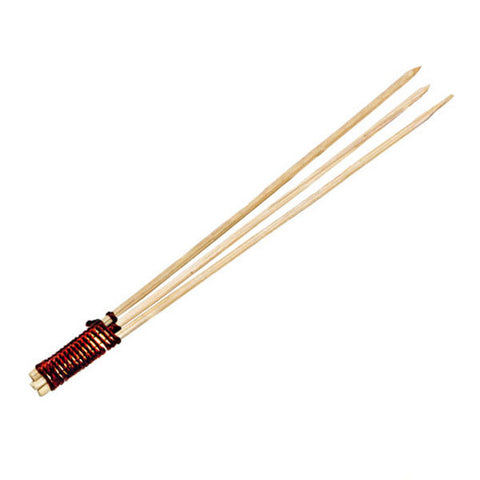 Bamboo Skewer 3 Prong with Tied End 3.14 inch/Case of 1000