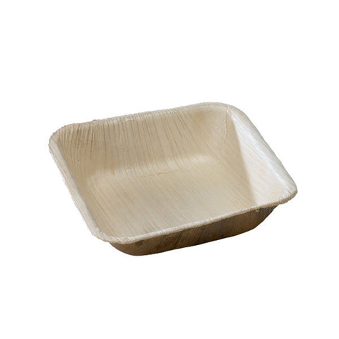 4 7/10 X 4 7/10 X 1 1/5 Inch  Palm Leaf Square Bowl/Case of 100