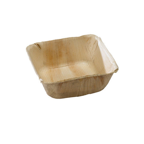 5 1/8 x 5 1/8 x 2 Inch Palm Leaf Square Bowl/Case of 100
