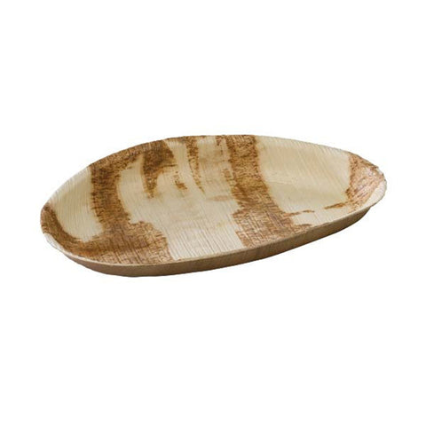10 1/5 x 6 3/10 x 1 Inch Palm Leaf Egg Shaped Plate/Case of 100