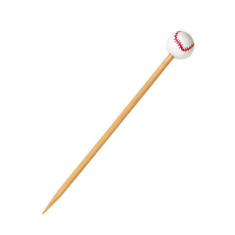 Baseball Themed Bamboo Skewers 4.72 in/Case of 1000