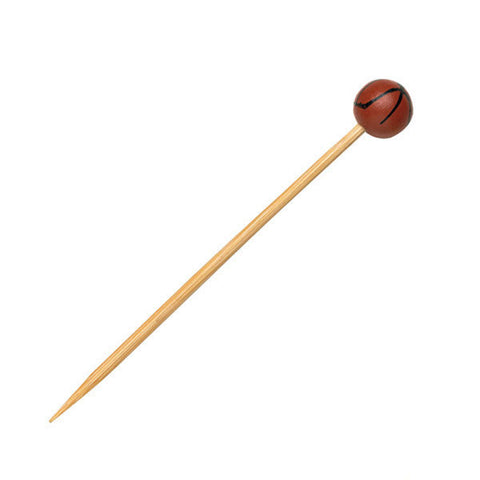 Basketball Themed Bamboo Skewers 4.72 in/Case of 1000