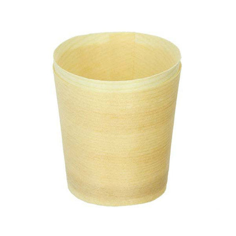 Eco Friendly 1 1/2 x 1 3/5 Inch Wooden Mini Cup/Case of 1000