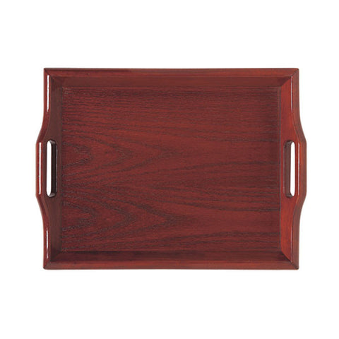 Room Svc. Trays  Natural 19 Inch x 14.25 Inch Hardwood Room Service Tray/Case of 6