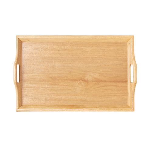 Room Svc. Trays  Natural 25 Inch x 16 Inch Hardwood Room Service Tray/Case of 6