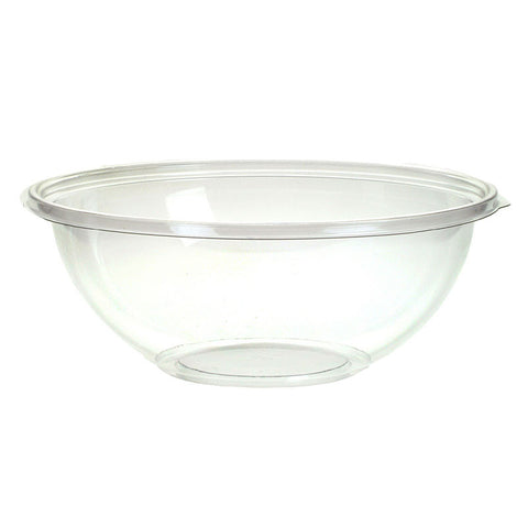 16 oz PETE Clear Round Plastic Salad Bowl/Case of 500
