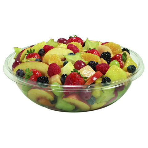 160 oz PETE Clear Round Plastic Salad Bowl/Case of 50