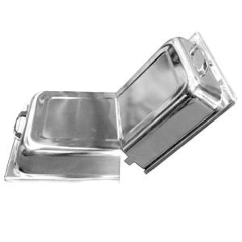 Stainless Steel Hinged Dome Cover/Case of 3