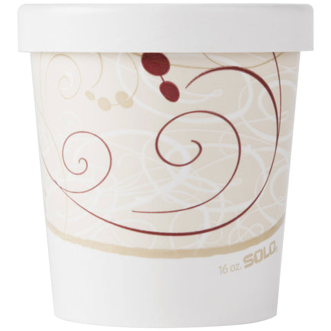 16 oz Symphony Design Soup/Cold Food Container with Lid/Case of 250