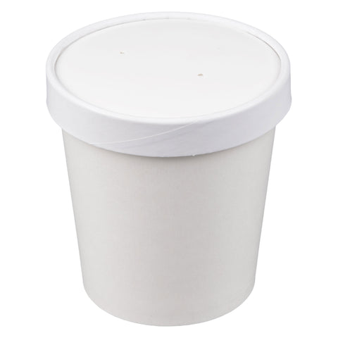 16 oz White Hot or Cold Food Container with Lid/Case of 250