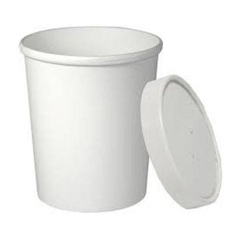 32 oz White Hot/Cold Food Container with Lid/Case of 250