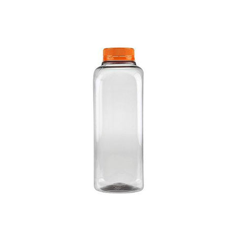 12 oz Clear PET Juice Bottles/Containers with Orange Cap/Case of 160