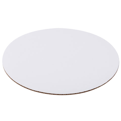 8 Inch White Top Corrugated Single Wall Cake Circles/Case of 500