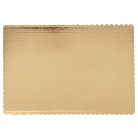 13 X 9 Gold Scalloped Corrugated Paper Board/Case of 100
