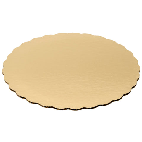 14 Inch Single Wall Gold Top Corrugated Cake Circle/Case of 100