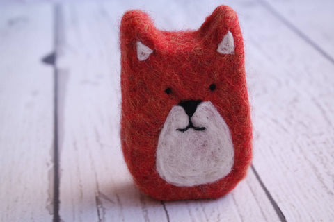 Fox gift-Felted Soap Fox -red fox, fox soap, cute fox, woodland creature, kid soap, kid gift, stocking stuffer, party favor, hostess gift