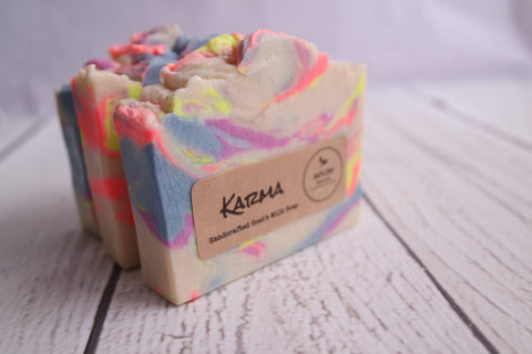Karma Goat's Milk Soap with silk - wonderful earthy scent