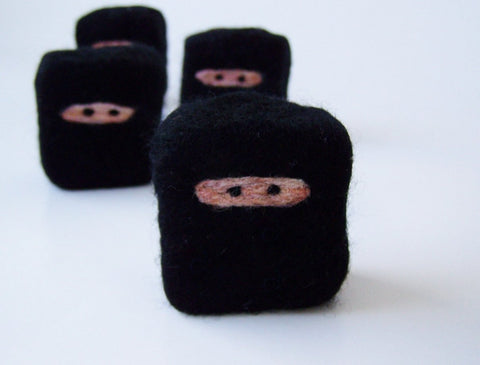 Felted soap Mini Ninja - 12 pack