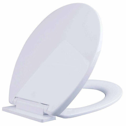BATHROOM SLOW SOFT CLOSE WHITE TOILET SEAT