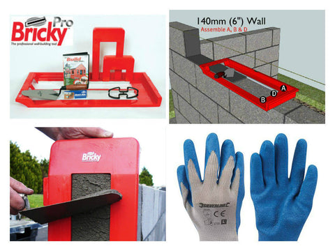 "Bricky Pro - Adjustable kit to build all standard wall sizes 4"", 6"" & 9"".(new)"