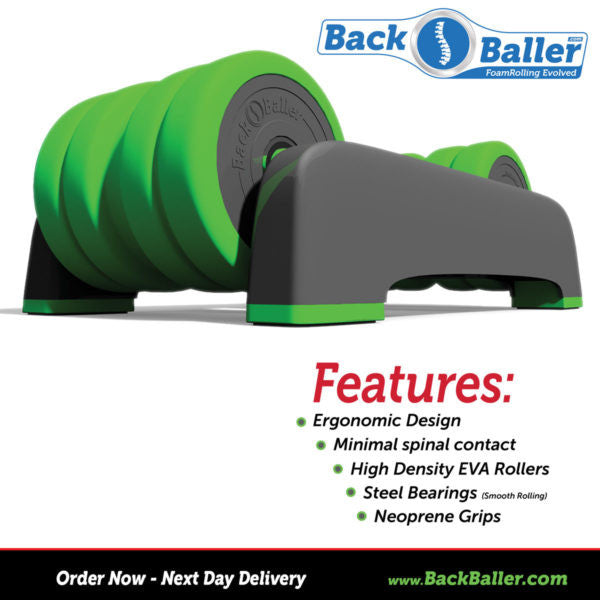 BackBaller: Dual-Mounted Foam Roller for focused muscle relief