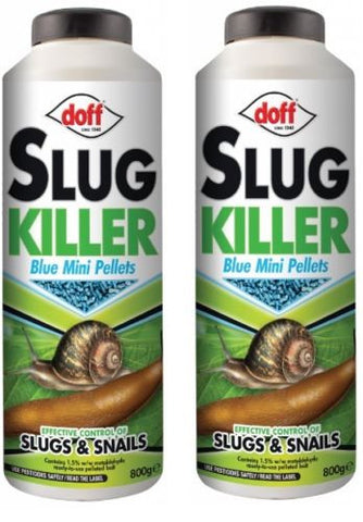 2x DOFF 800G (1.6KG) GARDEN SLUG SNAIL KILLER BLUE MINI PELLETS PESTICIDE 2 PACK
