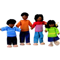 4-Member African-American Doll Family