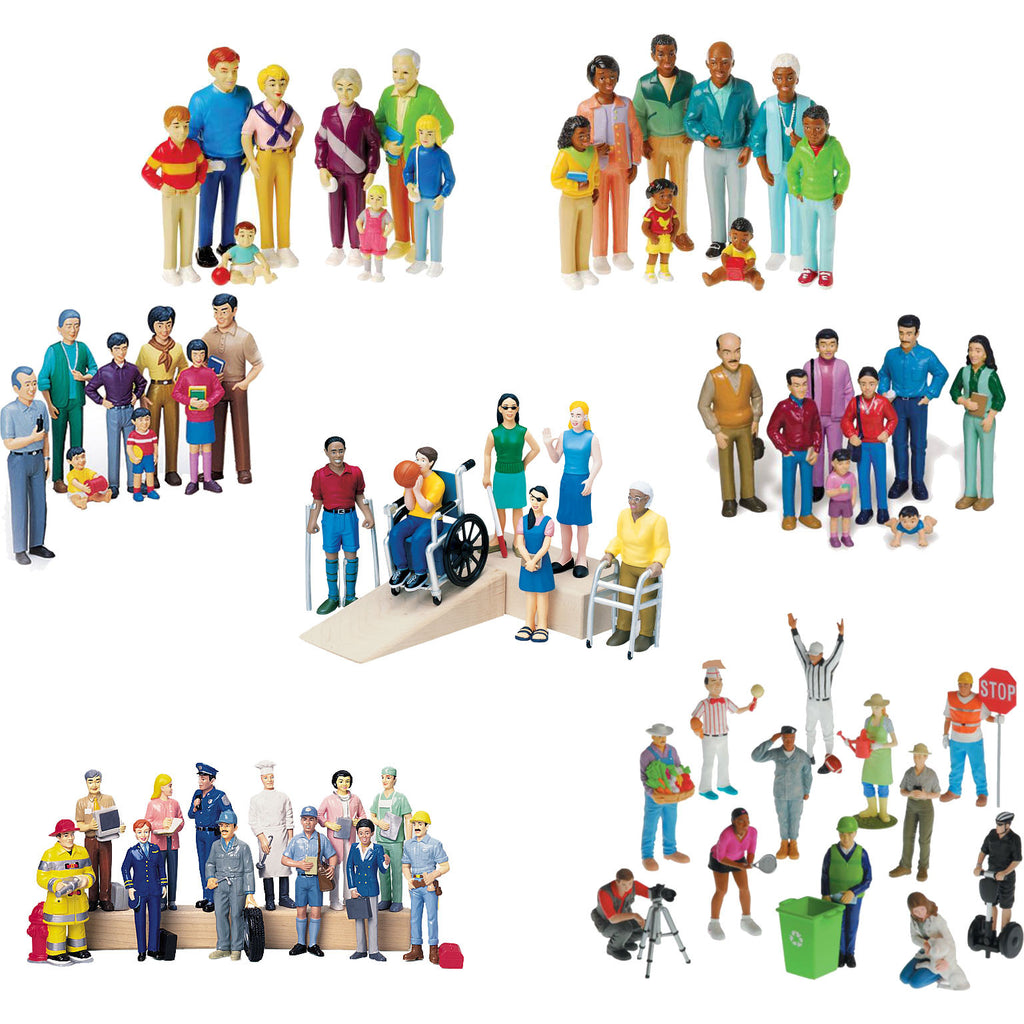 Pretend Play Human Figures Bundle (62-Figures)