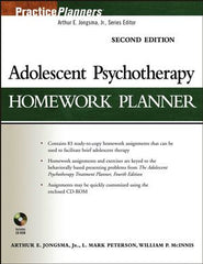 Adolescent Psychotherapy Homework Planner, 2nd Edition (with CD-ROM)