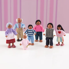 PlayKraft Doll Family - African-American (7-Pieces)
