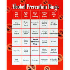 Alcohol Abuse Prevention Bingo Game