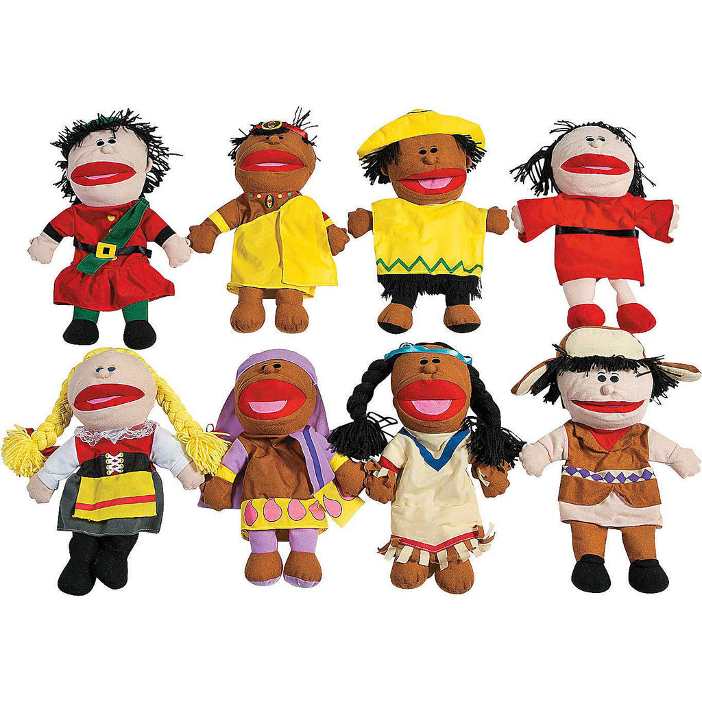 'Children of the World' Puppet Set (8 Puppets with Movable Mouths)