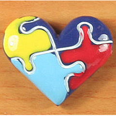 Autism Awareness Heart (Resin)