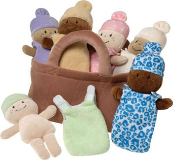 Multicultural Soft Baby Dolls (7-Piece Set)