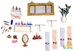 Dollhouse - Bathroom Accessories (21-Piece Set)